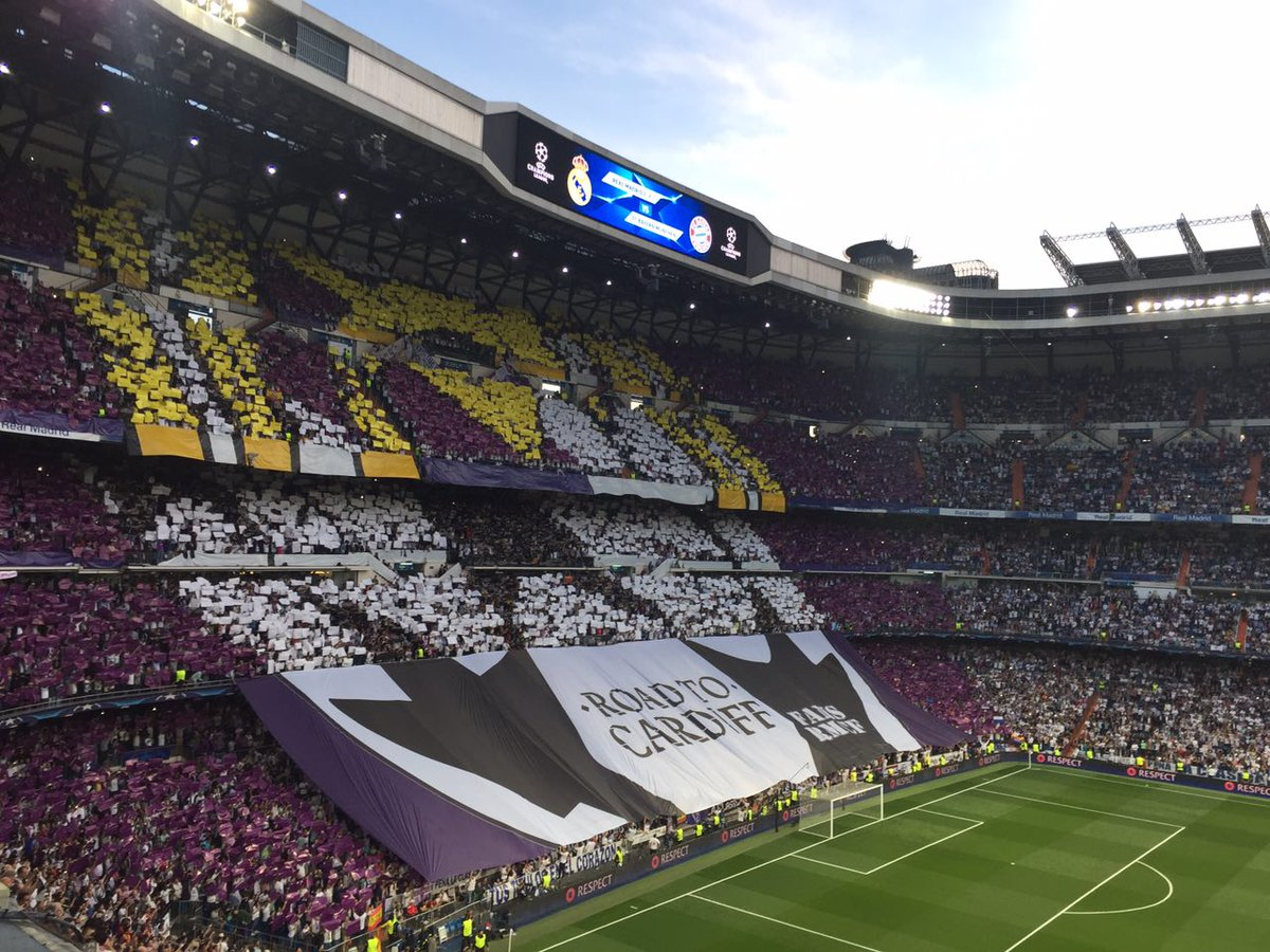 Tifo Real Madrid-Bayern de Munich